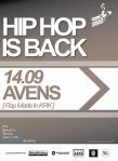 Hip Hop Is Back - Avens plakat - patronat