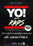 Yo HDS Raps - 9-11-2013-plakat