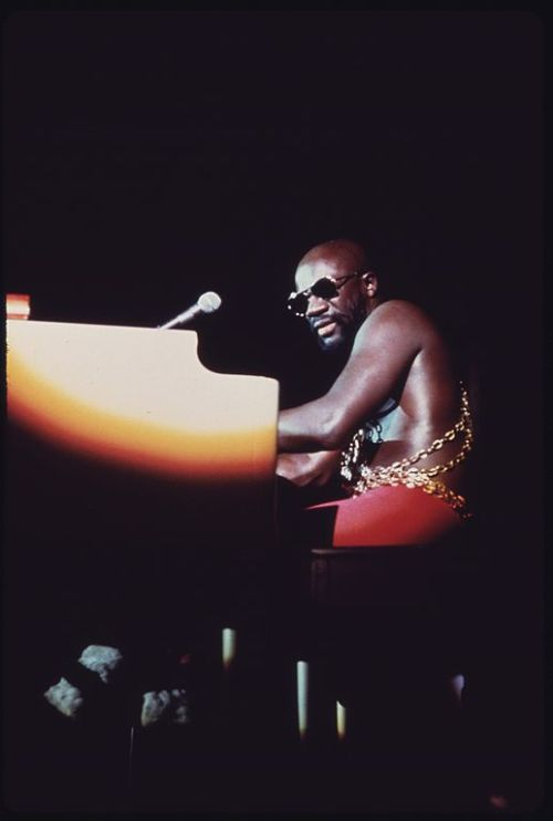 BLACK SOUL SINGER ISAAC HAYES PERFORMS AT THE INTERNATIONAL AMPHITHEATER IN CHICAGO AS PART OF THE ANNUAL PUSH 'BLACK... - NARA - 556307